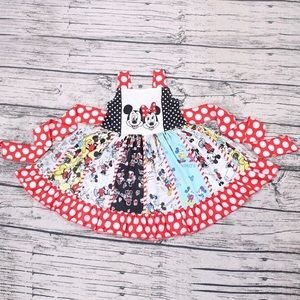 Other - Girls Mickey and Minnie Mouse Twirl Dress